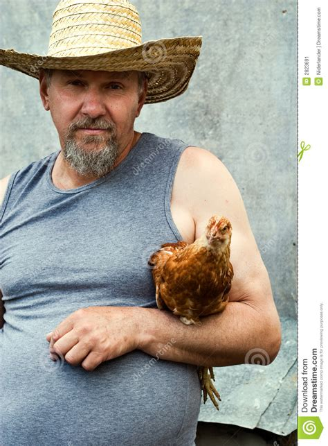 Old farmer stock image. Image of male, animal, protection