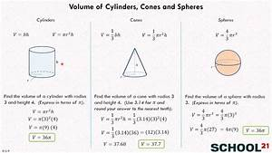 Volume Of Cylinders  Cones And Spheres 1  8 G 9
