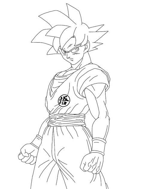 Dragon Ball Super Goku Coloring Pages Animefine