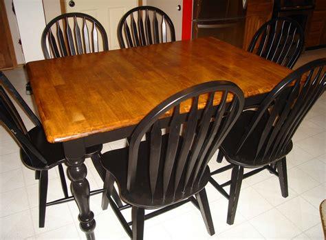 refinishing  kitchen table part