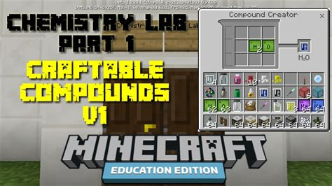 Minecraft Education Edition Chemistry Recipes
