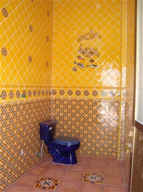 bathroom using mexican tile and saltillo floor tile