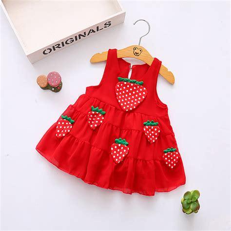 birthday dress for baby 1 year baby strawberry dress baby 0 3y newborn summer flower