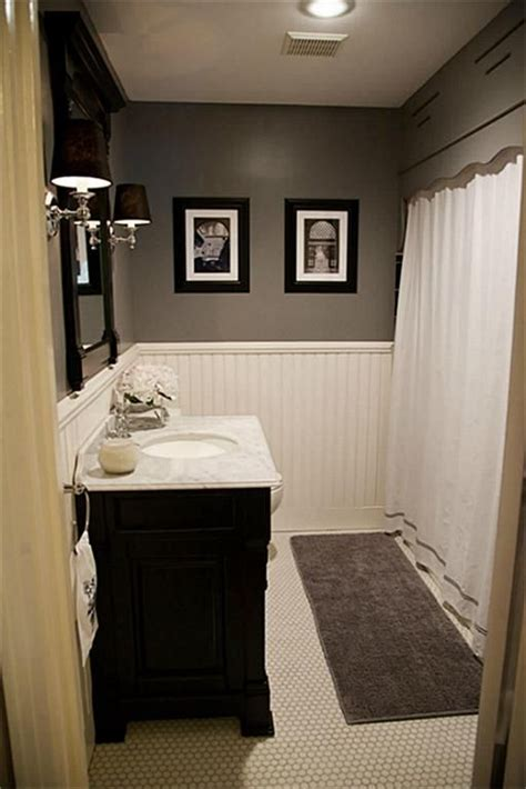 paint colors for bathrooms with grey tile future bathroom updates hex tile wainscoting marble vanity gray paint i like the grey and