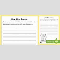 Dear New Teacher Worksheet  Worksheet  Ks2 Transition Resources