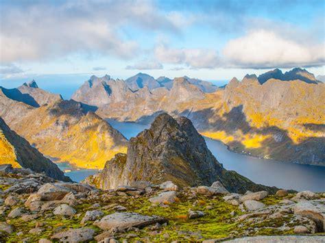 Lofoten Alps Norway Landscape Nature Rocky Mountains