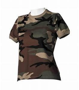 Tee Shirt Camouflage Femme : t shirt militaire homme type arm e camouflage kaki achat vente pas cher surplus militaire ~ Nature-et-papiers.com Idées de Décoration