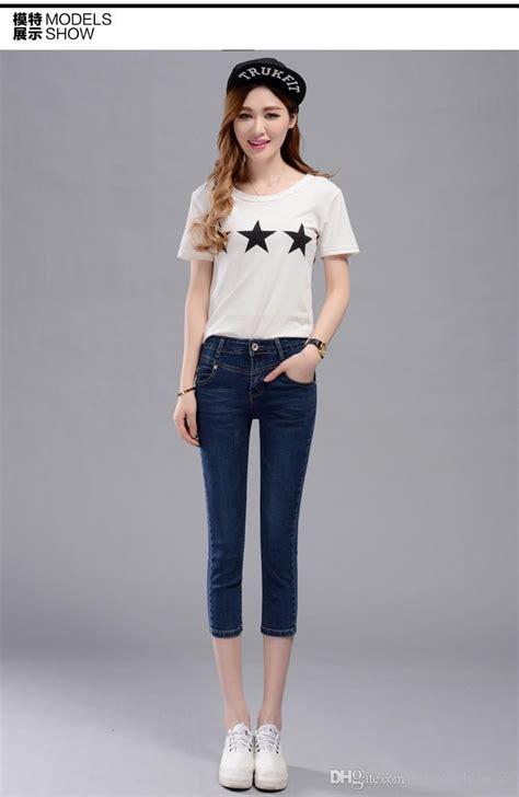 g denim g s 2018 new casual korean style calf length mid