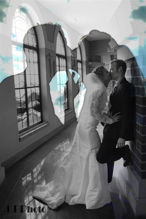 double exposure  bride  grooms silhouette kissing
