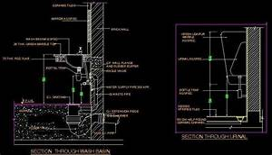 Typical Section of Wash basin and Urinal Plan n Design