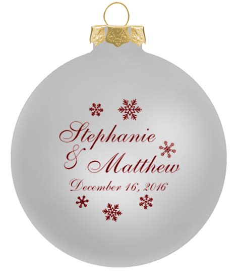 wedding ornaments glass ball personalized christmas