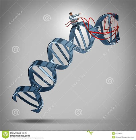 Modification To Dna by Genetic Engineering Stock Illustration Image 45314599