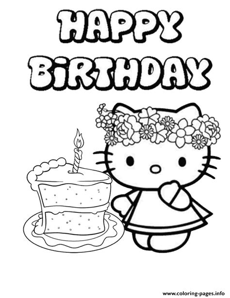 happy birthday cake coloring pages happy mothers