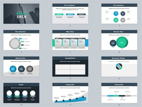 beautiful  pitch deck template powerpoint keynote