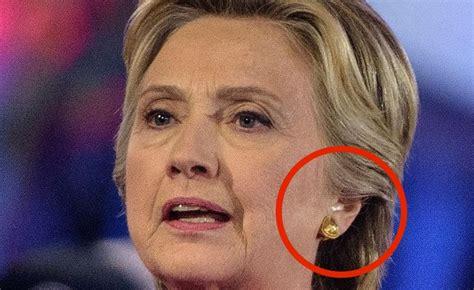 hillary clinton caught wearing secret earpiece  nbc