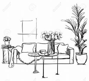Sofa Chair Drawing At Getdrawings