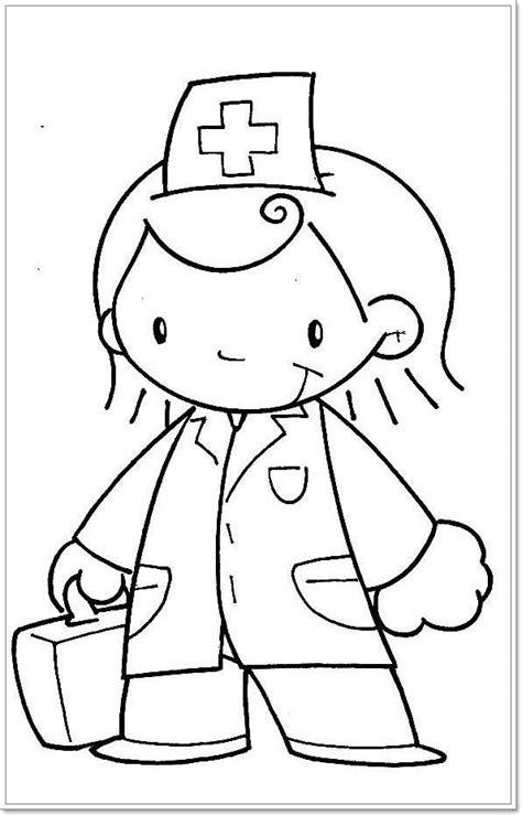 Kleurplaat Dokter Zuster by Kleurplaat Dokter Thema Hatsjoe Psz Kleurplaten Het