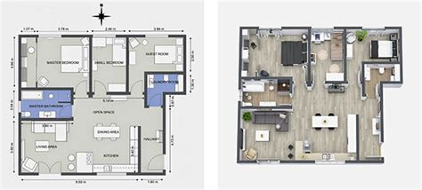luxury kitchen floor plans interior designer uses roomsketcher to visualize design 7305