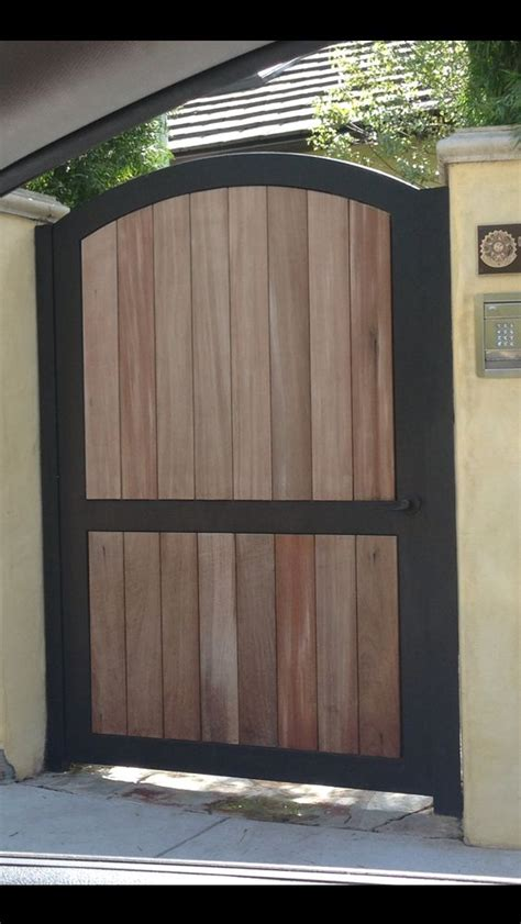 iron and wood fence iron and wood fence gate casa pinterest metal frames doors and metals