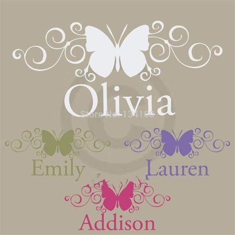 Fetco Home Decor Monogram Wall by Customer Made Scroll Butterfly With Personalized Name