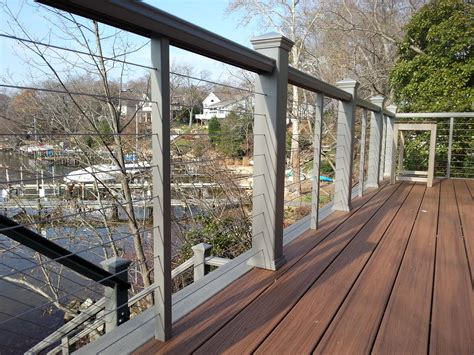 Steel Deck Handrails by Trex Railing With Stainless Steel Cable Railing Deck