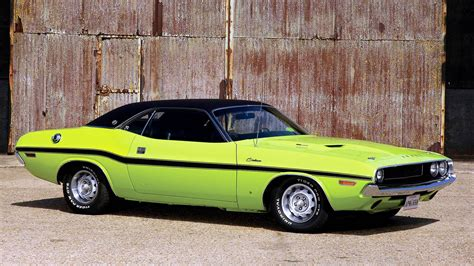 Dodge Challenger Cars Classic Muscle Vehicles Wallpaper
