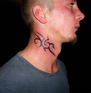 10 Neck Tattoo Ideas For Men: Small Tribal Neck Tattoo ...