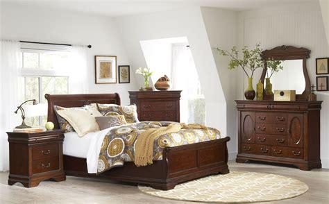 chateau vintage cherry panel bedroom set  largo