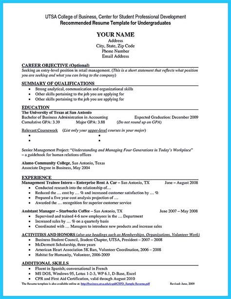 Student Resume No Experience by Best Current College Student Resume With No