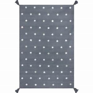 Tapis Etoile Gris : tapis gris toiles gris 140 x 200 cm art for kids ~ Teatrodelosmanantiales.com Idées de Décoration