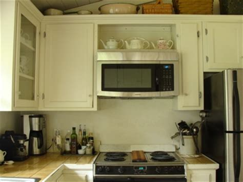 over the range microwave cabinet how to retrofit a cabinet for a microwave