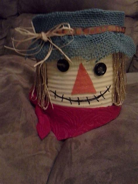 tin  scarecrow craft scarecrow crafts tin  crafts