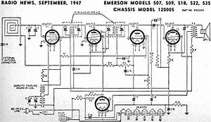 Emerson Models 507  509  518  522  535 Chassis Model