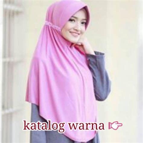 jilbab serut khimar instan hijab syari kerudung krudung kaos simple syari daily hijab afra size