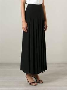 Long Black Pleated Skirt | Fashion Skirts
