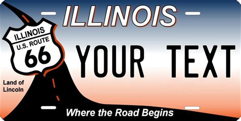 Vanity Plates In Illinois by Illinois Route 66 License Plate Personalized Auto Car