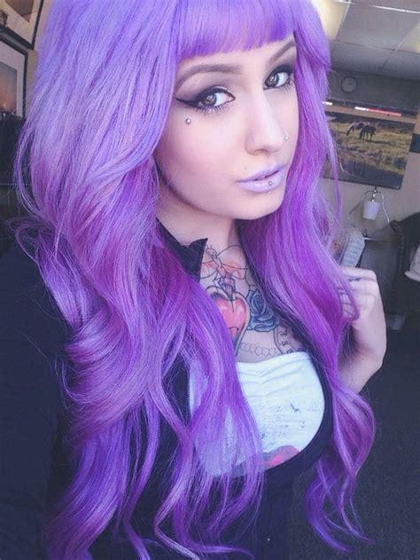 651 Best Purple Hair Images On Pinterest Colourful Hair