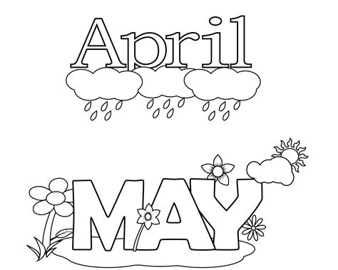 april showers coloring pages printable april coloring pages free
