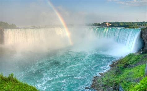 rainbow   waterfall beautiful nature wallpaper