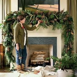 christmas decoration lush mantel swag holiday mantel decorating ideas southern living