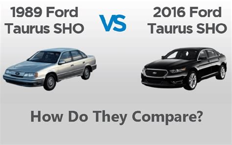 1989 Ford Taurus Sho Vs. 2016 Ford Taurus