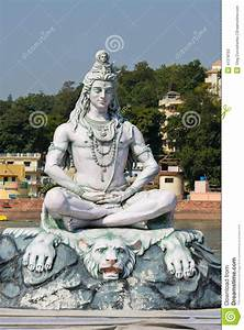 Shiva Statue In Rishikesh, India Editorial Stock Photo ...