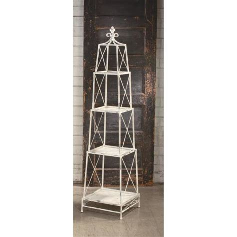 White Etagere Bookcase by White Distressed 4 Tier Etagere Open Bookcase 59361 The