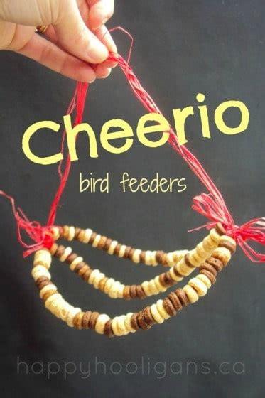 cheerio bird feeders  kids   happy hooligans