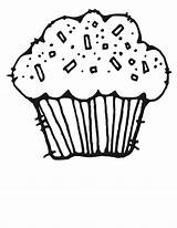 Cupcake Coloring Pages Birthday Clipart Sweet Board Story sketch template