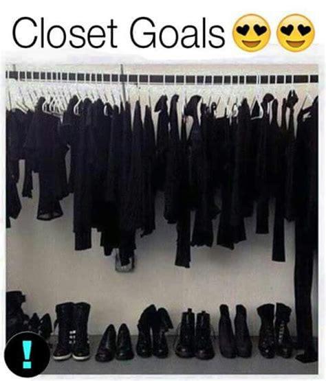 Black Clothes Wardrobe by Closet Goals We It Black Clothes And