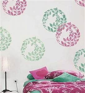 Diy wall painting stencils design and crafts
