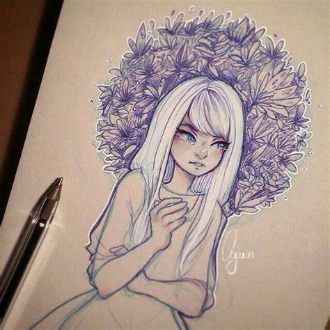 love white hair sketches art drawings drawings