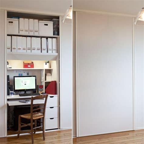 bureau dans un placard transformer un placard en bureau am 233 nager un coin bureau dans un petit espace journal des femmes