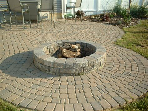 pit on patio paver patio with fire pit fire pit design ideas